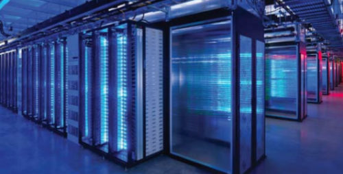 inside of data center / servers
