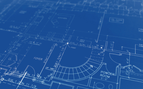 blueprint CAD design drawing