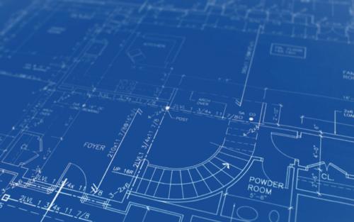 blueprint CAD design drawing